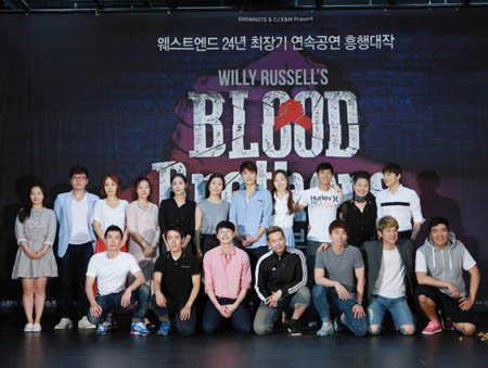 The full cast for Blood Brotehr in South Korea  2014 - Photo Credit: Hansaem Song