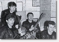The Beatles in the early 1960s - John, Paul, George and Pete Best - Ringo joined in 1962.