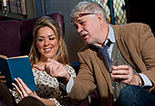 Claire Sweeny and Matthew Kelly in Educating Rita at the Menier Chocolate Factory 2012