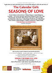 seasons of love poster: The Royal Albert Hall. October 2012
