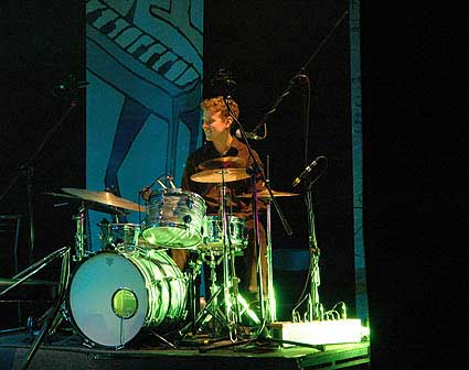 Vidat Norheim on drums and percussion