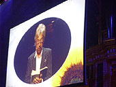 Willy Russell and Tim Firth at the Royal Albert Hall Seasons of Love Celebration.
